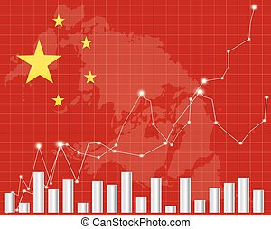 Flag of China Downtrend stock data diagram