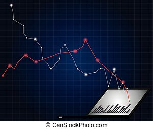 Economical stock market graph