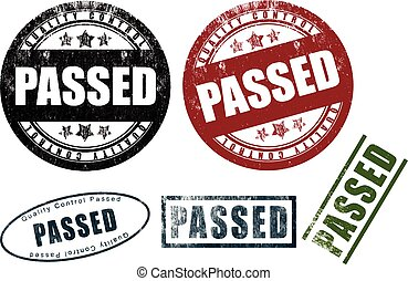 Passed Rubber Stamps Seals (Vector)