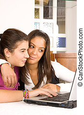 students and computer