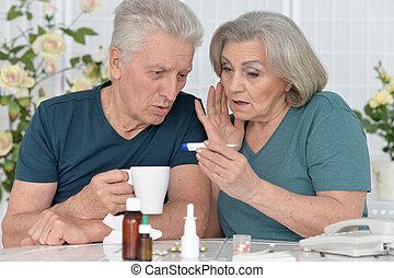 Stående, par,  Senior, biljard