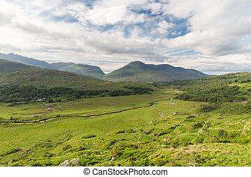 river at Killarney National Park valley in ireland - nature...