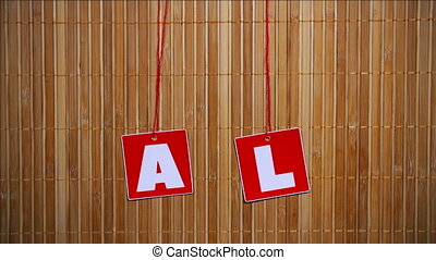 Big Sale On Bamboo Background - Big sale stop motion...