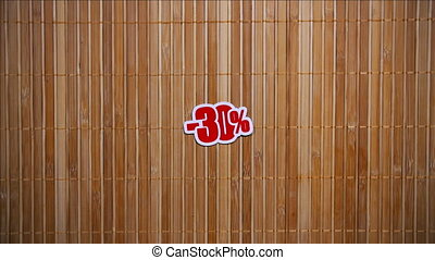 Black Friday Sale On Bamboo Background 2