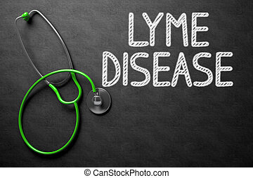 Lyme Disease Handwritten on Chalkboard. 3D Illustration. -...