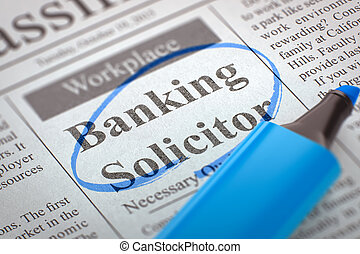 Banking Solicitor Hiring Now. 3D. - Banking Solicitor....