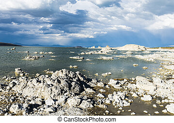 Mono Lake - Tufa formations in Mono Lake. California, USA