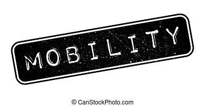 Mobility rubber stamp on white. Print, impress, overprint.