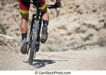 Mountainbike - Mountain bike sport athlete man riding...