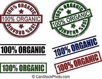 100%  one hundred percent organic