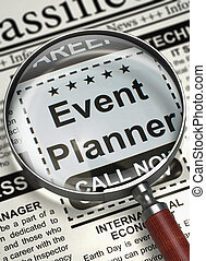 Job Opening Event Planner 3D - Illustration of Classified Ad...