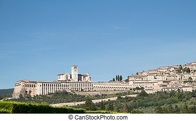 assisi - landscape of assisi in italy