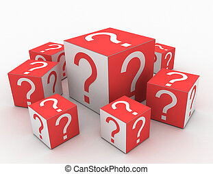 Cubes with Question Marks in the design of information...