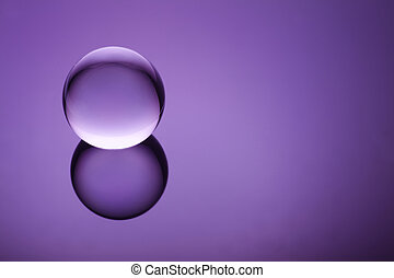 Spiritual Orb - Crystal ball suspended over a mystical...