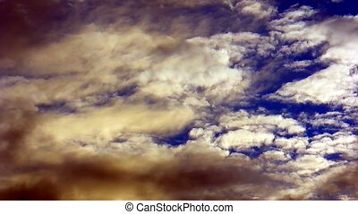 Dramatic sky with real stormy clouds - Dramatic sky with the...