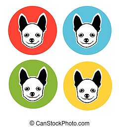 Small Dog Animal Pet Web Icon Collection