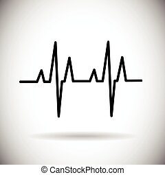 Heart Beat Pulse Medicine Icon Vector Illustration