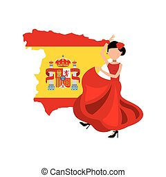 woman dancing flamenco classic icon of Spanish culture...