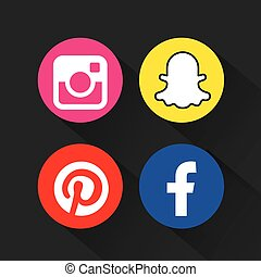 set brands of the web vector illustration design