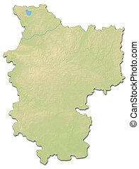 Relief map - Minsk (Belarus) - 3D-Rendering - Relief map of...