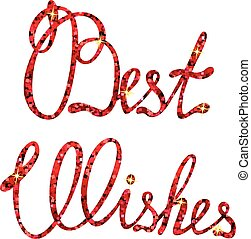 Best wishes lettering tinsels - Vector best wishes lettering...