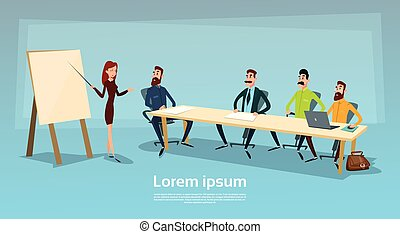 Business People Group Presentation, Businesspeople Team...