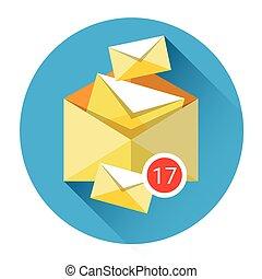 Envelope Digital Marketing Email Inbox Message Send Business...