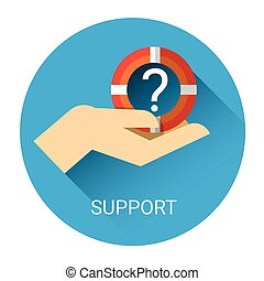 Consulting Support Service Icon Flat Vector Illustration