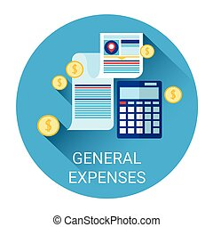 General Expenses Budget Planning Business Icon Flat Vector...
