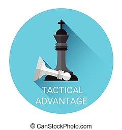 Tactical Advantage Concept Business Strategy Icon Flat...