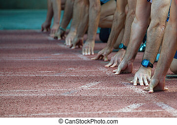 Hands on the starting line
