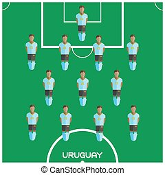 Computer game Uruguay Football club player