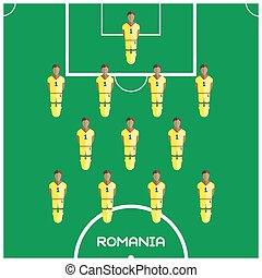 Computer game Romania Football club player