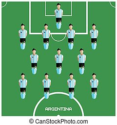 Computer game Argentina Football club player