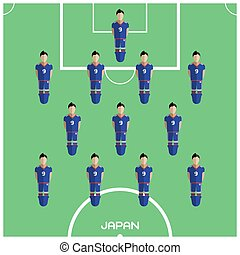 Computer game Japan Football club player