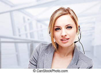 business woman - Attractive Blond Young Woman With A...