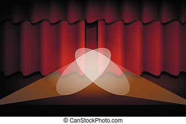 The Scene with the Red Curtain