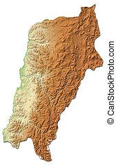 Relief map - Atacama (Chile) - 3D-Rendering