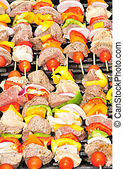 GRILLED SHISH KABOBS - An assortment of shish kabobs...