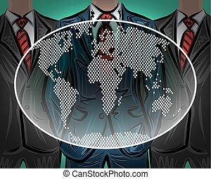 Network international worldwide business team vector