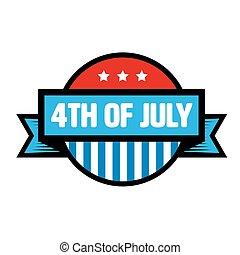 Fourth of July vintage stamp