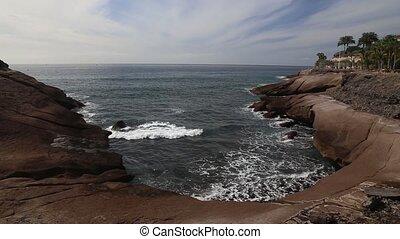 Tenerife beach coast Atlantic ocean - DSLR Full HD...