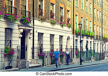 Cosy street in London Westminster