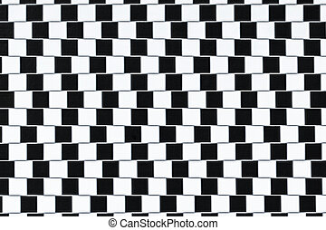 Optical Illusion Lines - Lines are parallel but seem to be...