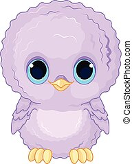 Baby Owl - Illustration of a cartoon baby owl