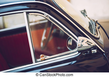 Vintage Car in Rome, Italy