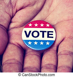 badge for the United States election
