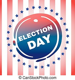 Election Day Banner - Election Day Campaign Ad Flyer. Social...