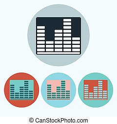 Music Equalizer icon set - Equalizer icon set. Music...