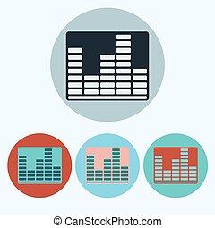 Music Equalizer icon set - Equalizer icon set. Music...